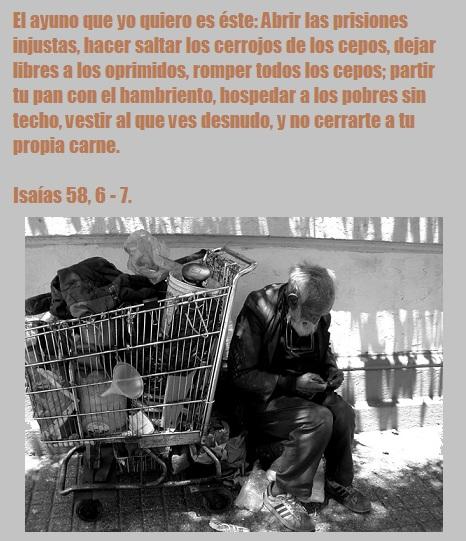 «ALIMENTA AL QUE MUERE DE HAMBRE, PORQUE SI NO LO ALIMENTAS, LO MATAS»