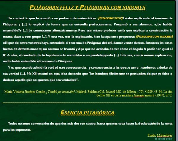 TRES PITÁGORAS TRES (Perlas para mis amigos-56)