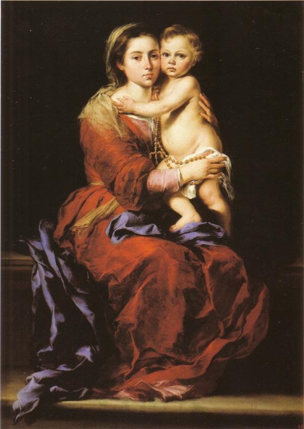 Resultado de imagen de virgen del rosario pintura