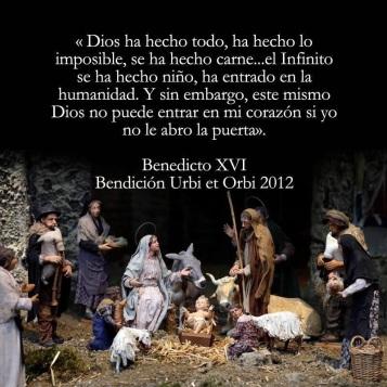 Resultado de imagen de Benedicto XVI Navidad