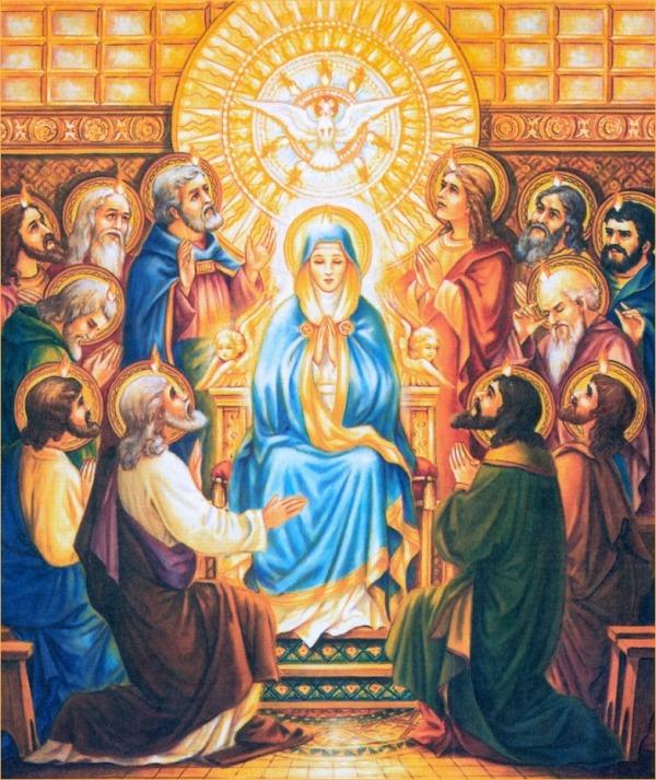 Resultado de imagen de Virgen María y Espíritu Santo